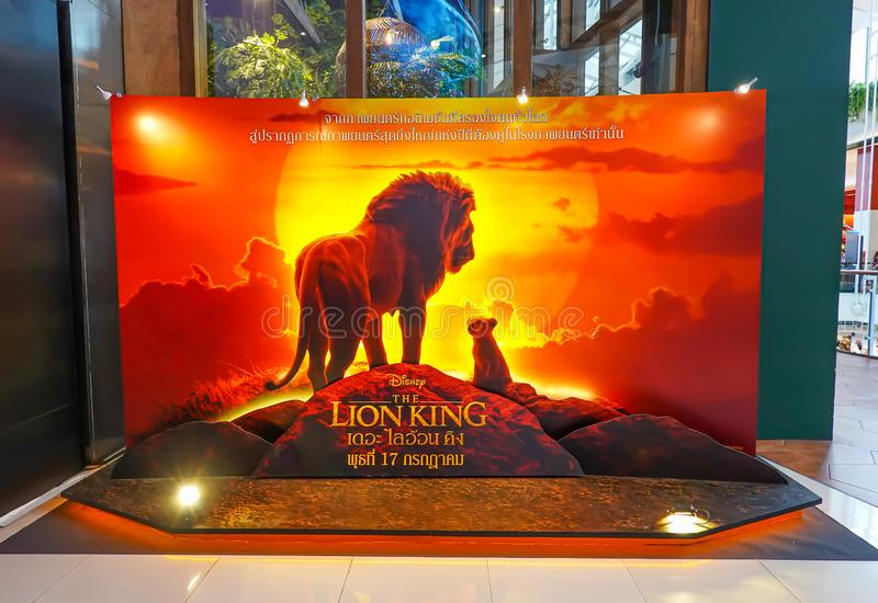 A beautiful standee of a movie called Lion King display at the cinema to promote the movie stock images