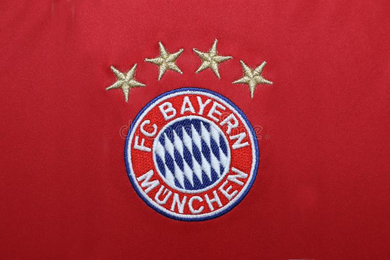 Bangkok Thailand July 13 The Logo Of Bayern Munich On Footb