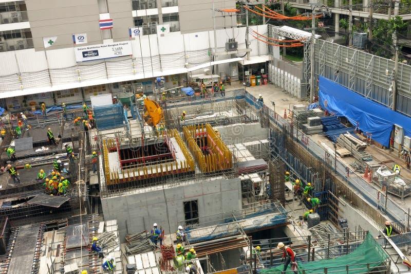 Construction site in Bangkok stock image