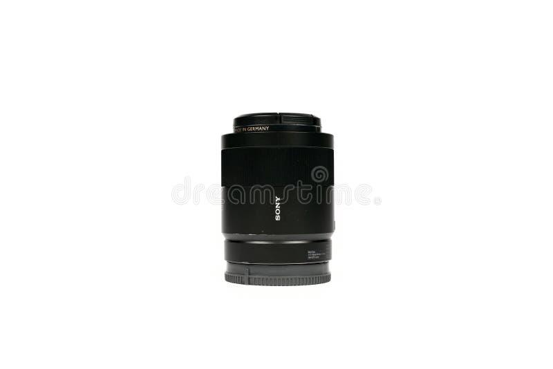 Bangkok, Thailand - 14 Jun 2019, Carl Zeiss Sony FE 55 mm F 1.8 ZA Lens for Sony Fullframe mirrorless camera was Thailand in 2019. Bangkok, Thailand - 14 Jun royalty free stock photos