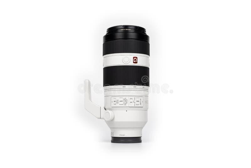 Bangkok, Thailand - 14 Jun 2019, Sony FE 100-400 mm GM Lens for Sony Fullframe mirrorless camera was Thailand in 2019, Bangkok,. Bangkok, Thailand - 14 Jun 2019 royalty free stock photos