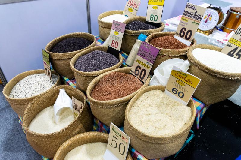 Different types of rice stock photography
