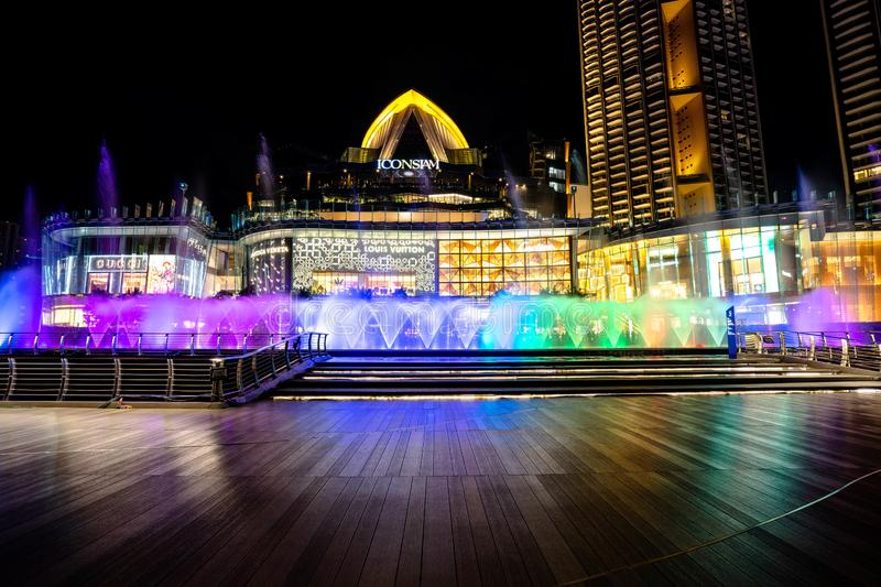 BANGKOK, THAILAND - June 18, 2019: The ICONSIAM department store which have many shopping Center and Landmark of Bangkok , ICONIC royalty free stock photography