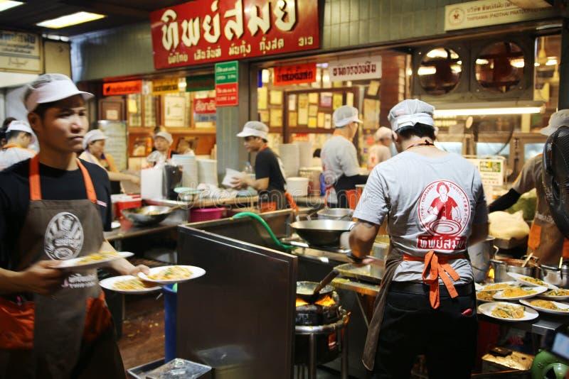 Pad Thai restaurant in Bangkok. Bangkok Thailand , June 03, 2018 - `ThipSamai` is a famous Pad Thai restaurant in Bangkok. Actually, Padthai is one of popular royalty free stock images