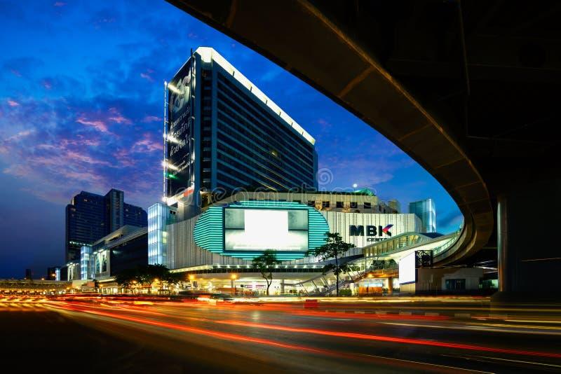 BANGKOK, THAILAND - Juni 17 2017: Panorama van MBK-Centrum het winkelen royalty-vrije stock foto