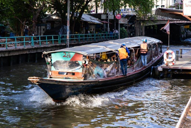 BANGKOK, THAILAND - 14. Juni 2019: Wassertransport durch Schnellboot in Bangkok, Thailand lizenzfreie stockbilder