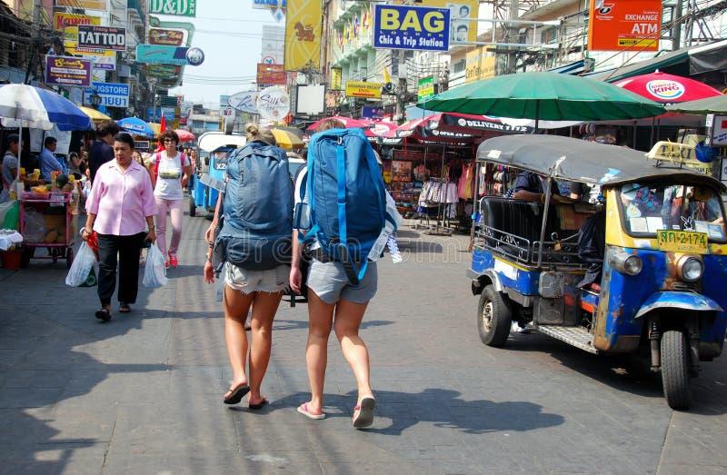 Bangkok, Thailand: Khao San Straße lizenzfreies stockbild