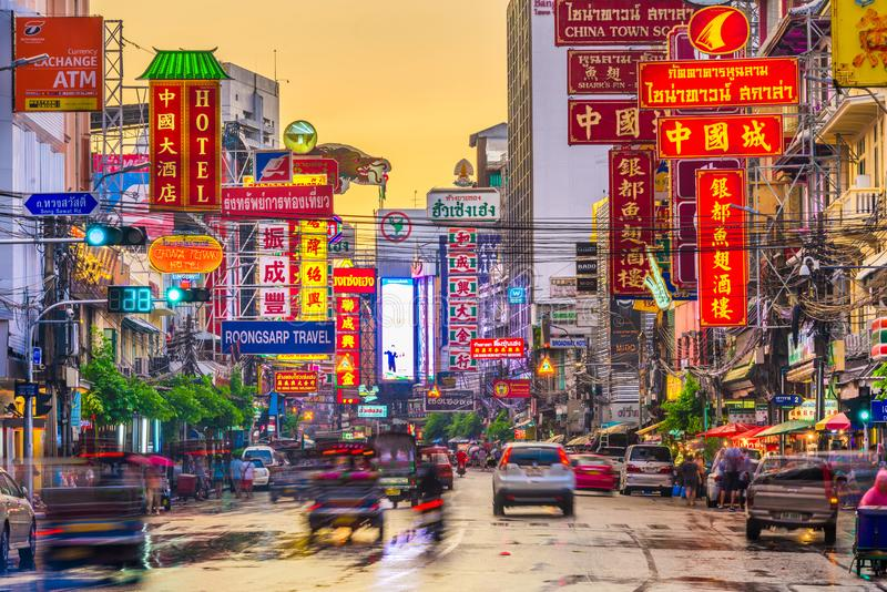 Bangkok Thailand kineskvarter arkivbilder
