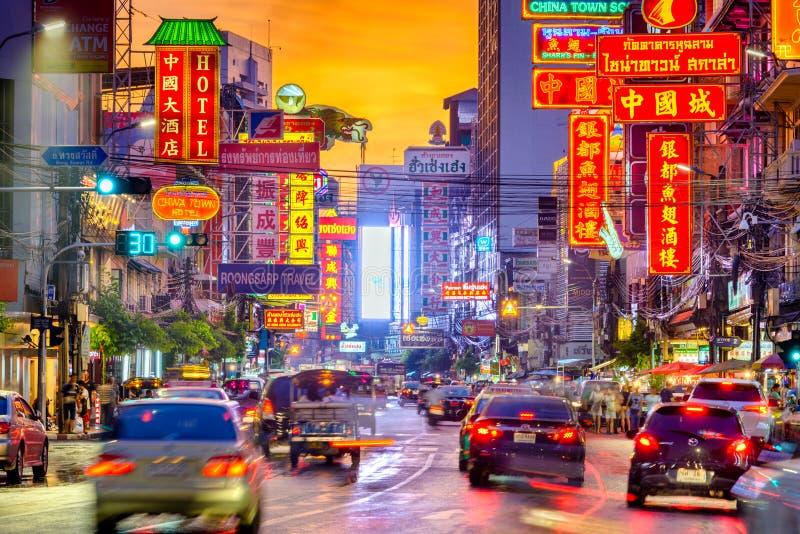 Bangkok Thailand kineskvarter arkivfoto