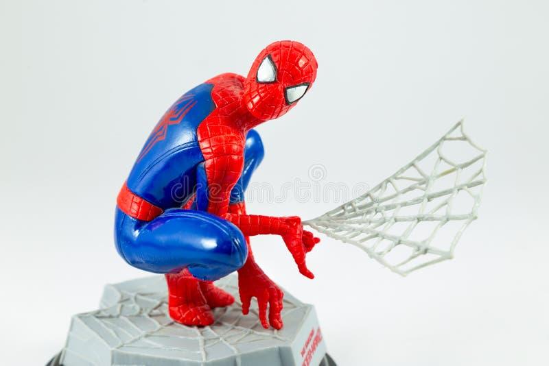 Bangkok, Thailand - 27. März 2016: Atelieraufnahme von Spider-Man f lizenzfreie stockbilder