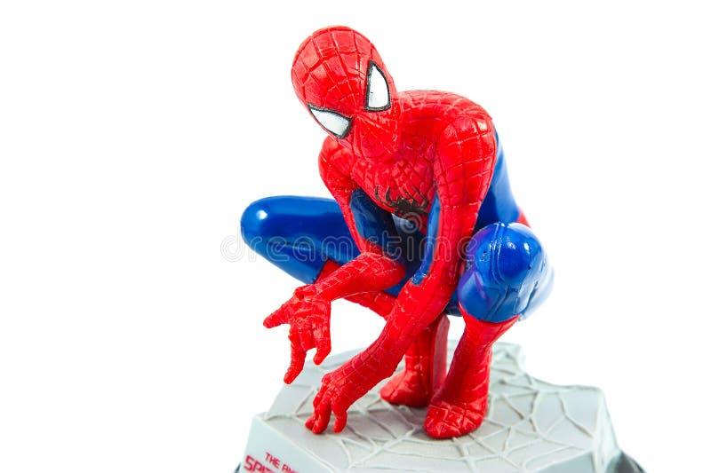 Bangkok, Thailand - 27. März 2016: Atelieraufnahme von Spider-Man f stockbilder