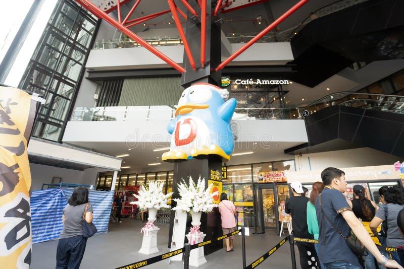 Bangkok, Thailand - 17. März 2019: Don Don Donki-Kaufhaus von Japan ist für Touristen in Bangkok offen lizenzfreie stockfotos