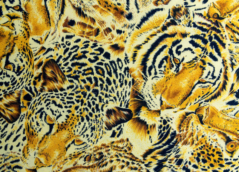 BANGKOK, THAILAND, 28 March 2016, Tiger and leopard and wild Animal pattern. skin background stock photos