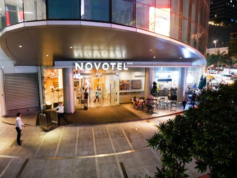 BANGKOK THAILAND - MARS 12, 2017: NOVOTEL-hotell nära platina arkivfoto