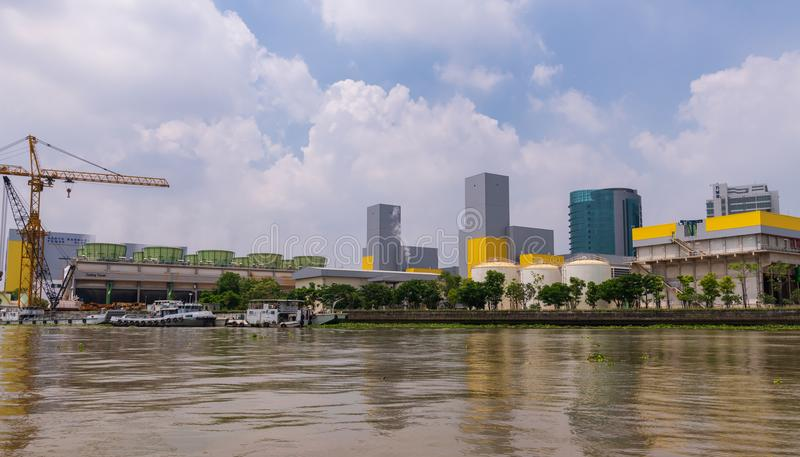 Headquarter building of Electricity Generating Authority of Thailand EGAT. stock image