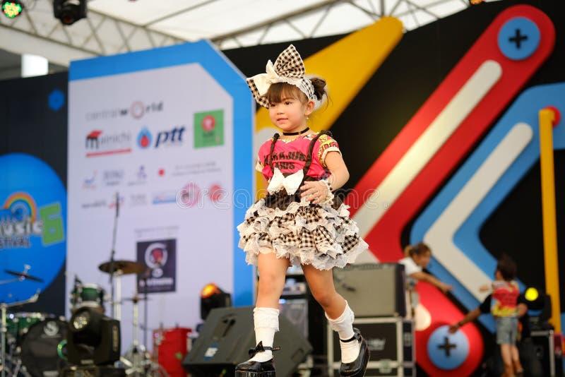 BANGKOK, THAILAND - MAY 8: Kids model walks the runway stock photography