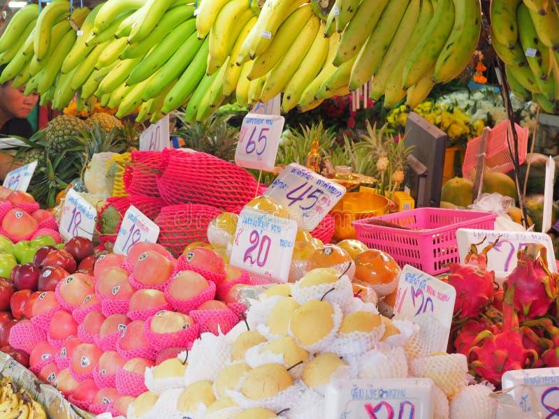 Bangkok,Thailand, on May 26, 2018, Ladprao fresh food market, pe. Bangkok,Thailand, on May 26, 2018, Ladprao fresh food market, fruit and price tag stock photos