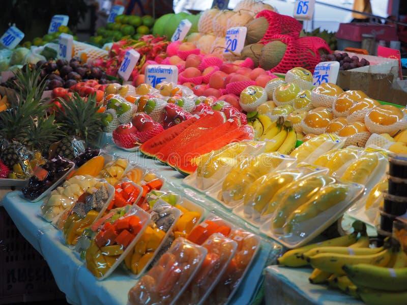 Bangkok,Thailand, on May 26, 2018, Ladprao fresh food market, pe. Bangkok,Thailand, on May 26, 2018, Ladprao fresh food market, many kind of fruit and price tag stock image