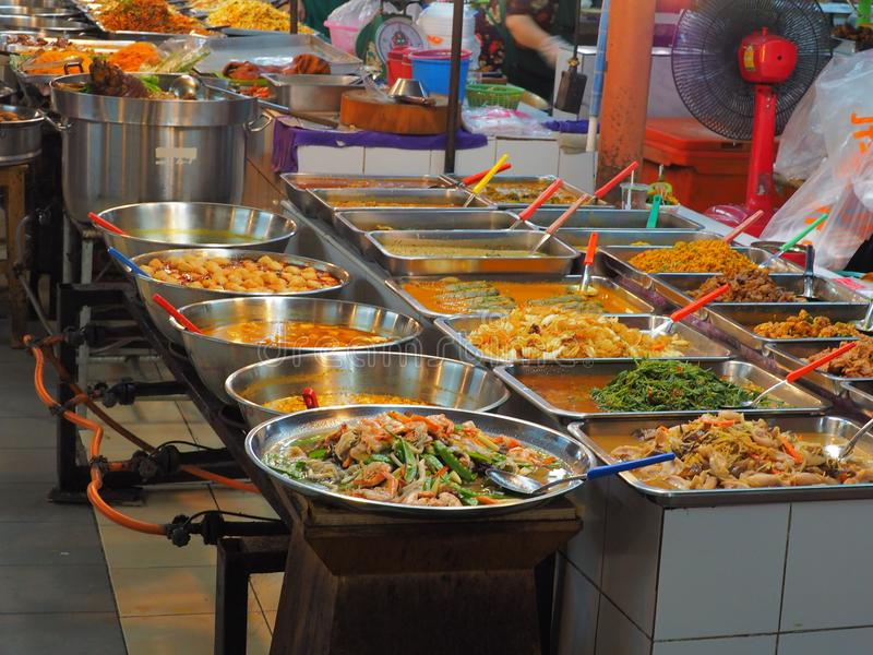 Bangkok,Thailand, on May 26, 2018, Ladprao fresh food market, pe stock photo