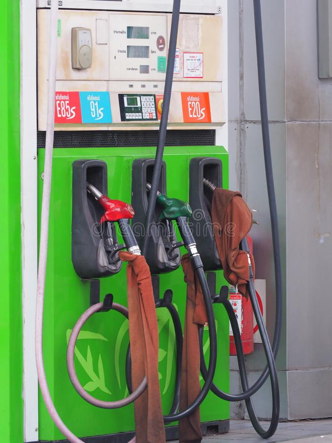 Bangkok,Thailand. On May 26 2018 price of petrol situation. Photo of fuel dispenser stock photo