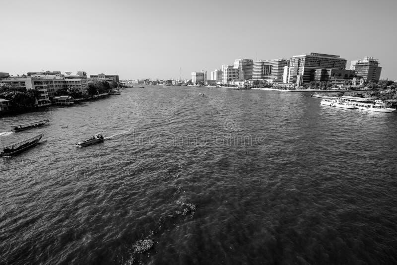 Bangkok Thailand, Menam flod fotografering för bildbyråer