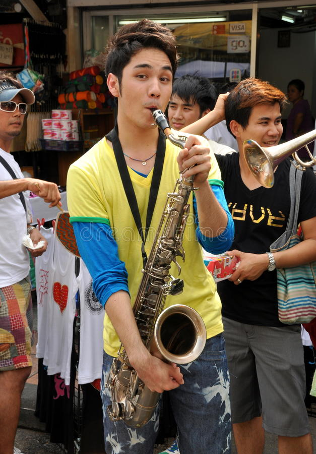 Download Bangkok, Thailand: Musician On Khao San Road Editorial Stock Photo - Image: 18014098