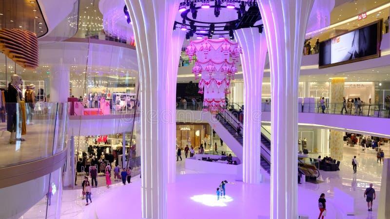 Bangkok, Thailand-November 17, 2018: day of ICON SIAM, Bangkok landmark`s shopping and entertrainment destination in Thailand stock photography