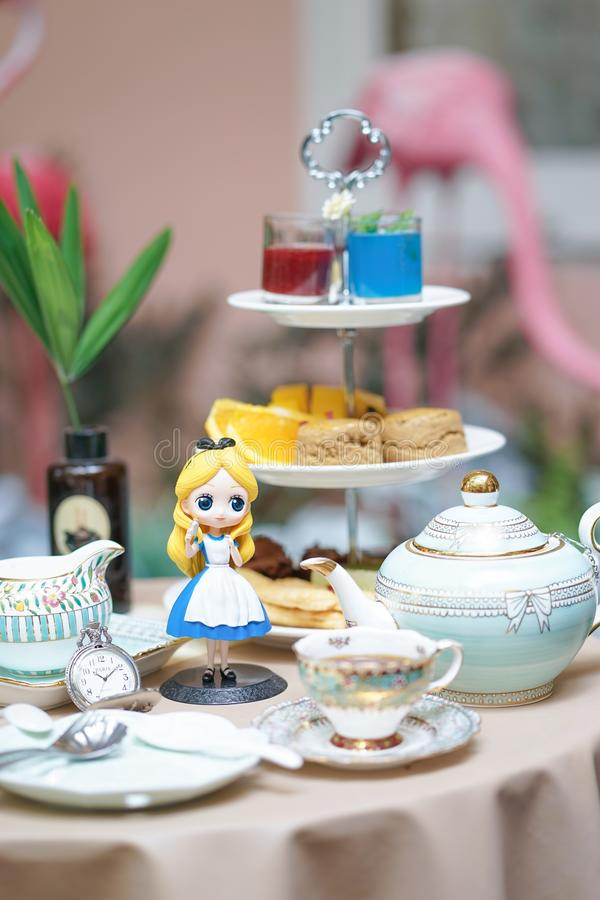 A photo of Alice`s Adventure in Wonderland. royalty free stock photo