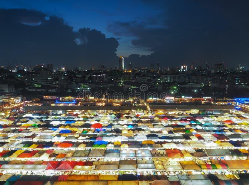 Ratchada Train Night market for Night life in Bangkok. royalty free stock photos