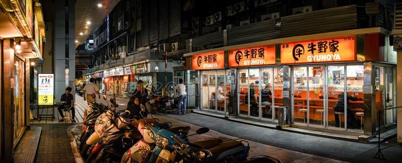 BANGKOK THAILAND - OKTOBER 20: Japanskt snabbmatrestaurangG royaltyfria bilder