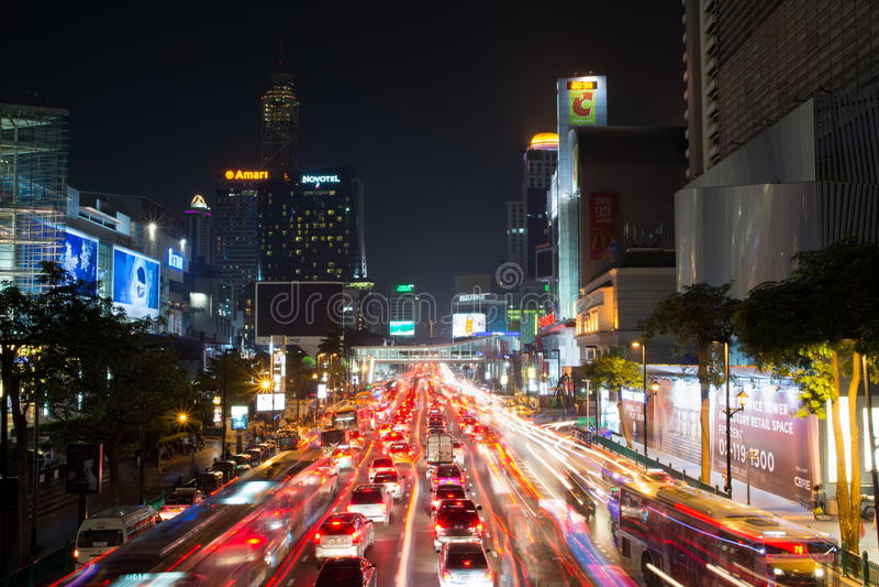 BANGKOK, THAILAND - OKTOBER 13, 2016: Mening bij vierkante Ni van Siam stock afbeeldingen