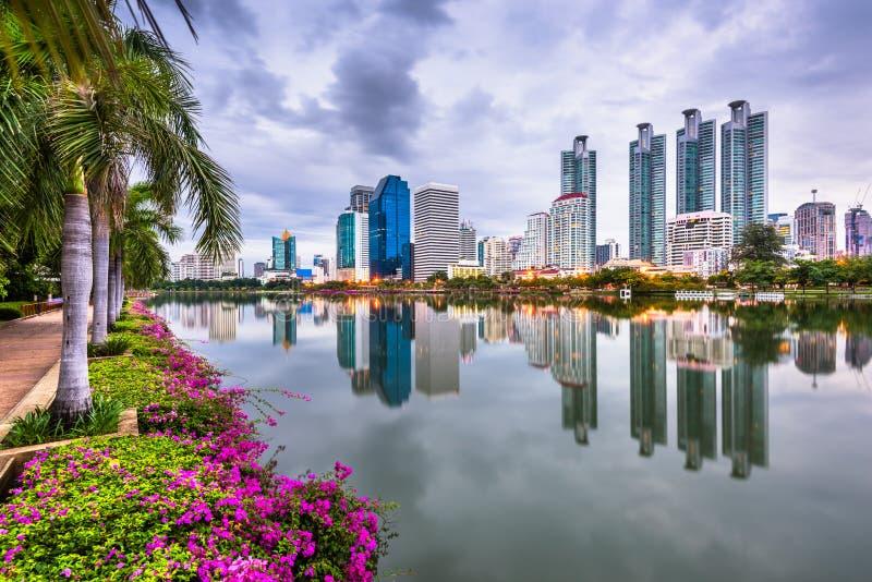 Bangkok Thailand p? Benjakiti parkerar fotografering för bildbyråer