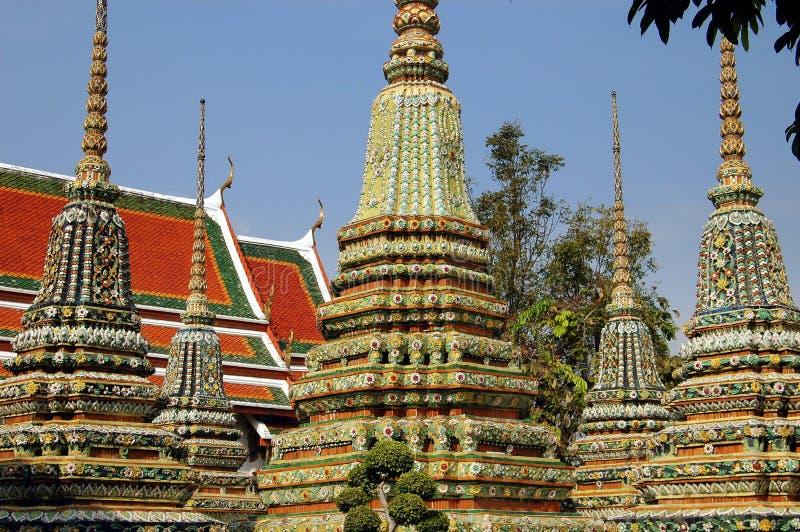 Download Bangkok, Thailand: Prangs At Wat Pho Royalty Free Stock Images - Image: 10950249