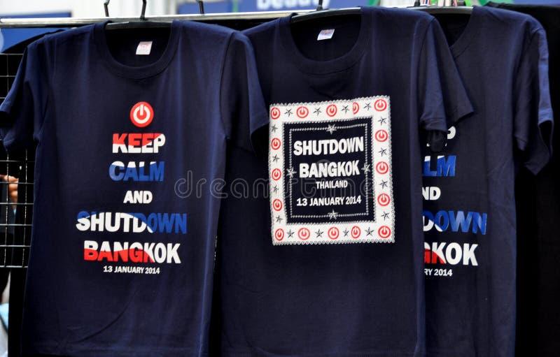 Bangkok, Thailand: Schließen Sie Bangkok-T-Shirts stockfotos
