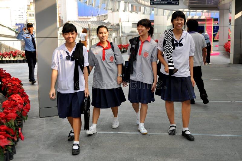 Download Bangkok, Thailand: School Girls In Uniforms Editorial Photo - Image: 22704816