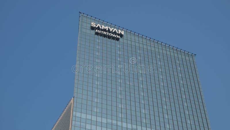 Mixed-use development Samyan Mitrtown rises in Bangkok royalty free stock photo