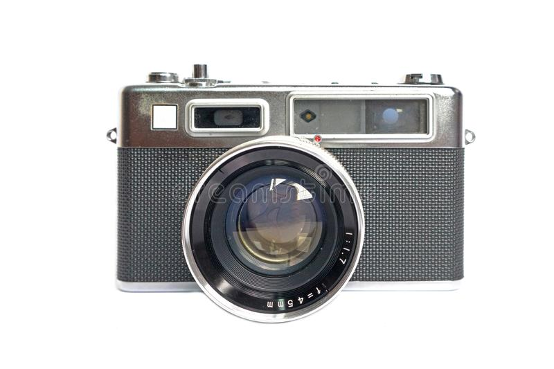 Retro camera on white background royalty free stock images