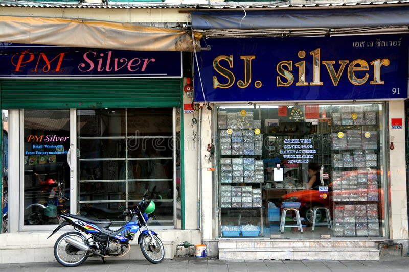 Download Bangkok, Thailand: Silver Shops Near Khao San Rd Editorial Stock Photo - Image: 23410653