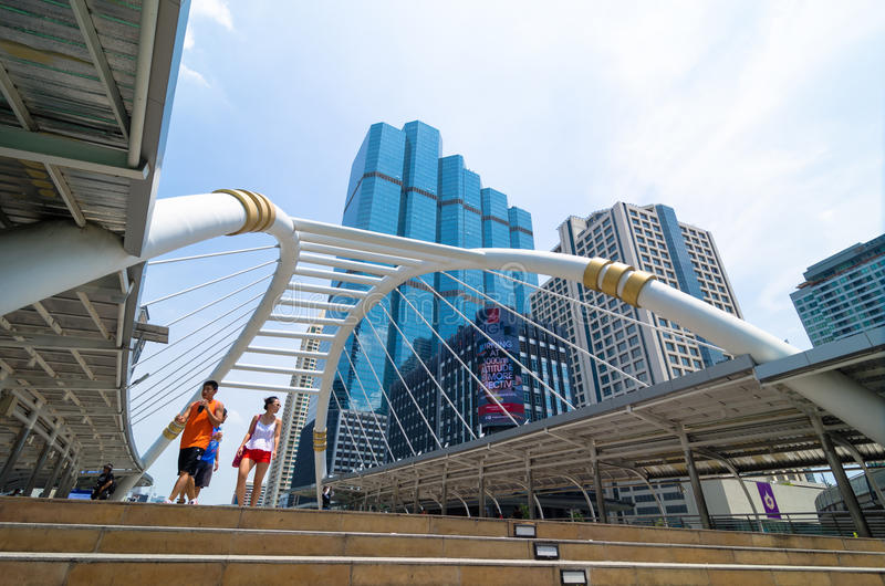 Bangkok Thailand : Sky walk stock photo