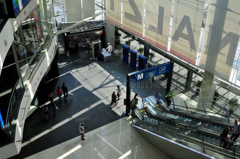 Bangkok, Thailand: Terminal 21 Shopping Center. View of the sleek, contemporary Level M entry level hall at the futuristic Terminal 21 shopping center on stock images