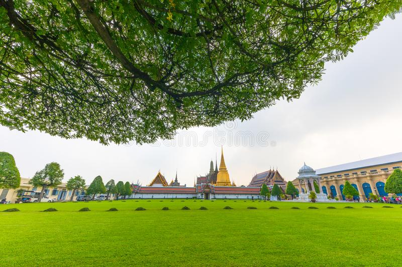 Travelling to Emerald Buddha Statue, Grand Palace, Bangkok, Thailand. royalty free stock photo