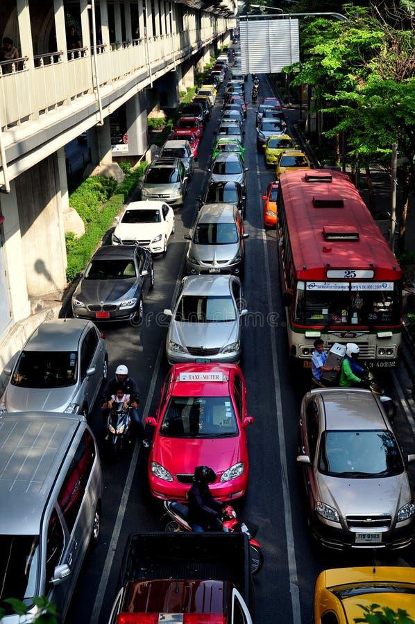 Bangkok, Thailand: Traffic Jam On Sukhamvit Road Editorial Image