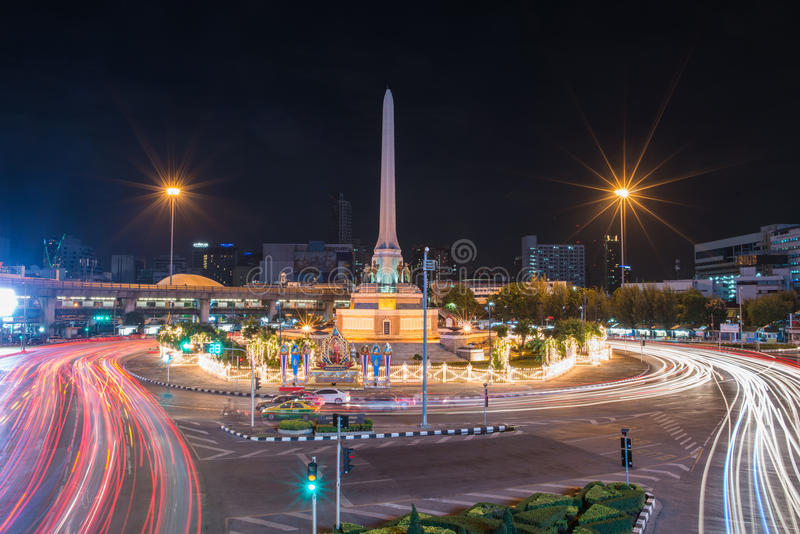 BANGKOK, THAILAND: Victory monument in central Bangkok on August 2 , 2014 in Bangkok. stock image