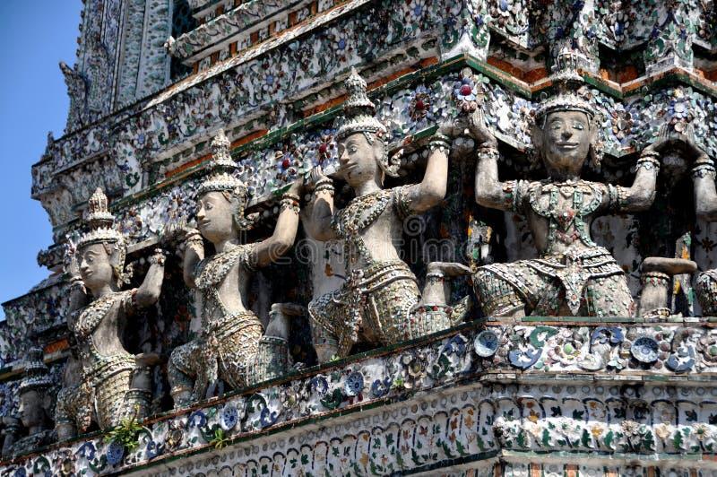 Download Bangkok, Thailand: Wat Arun Kinnaree Figures Stock Photo - Image: 12853986