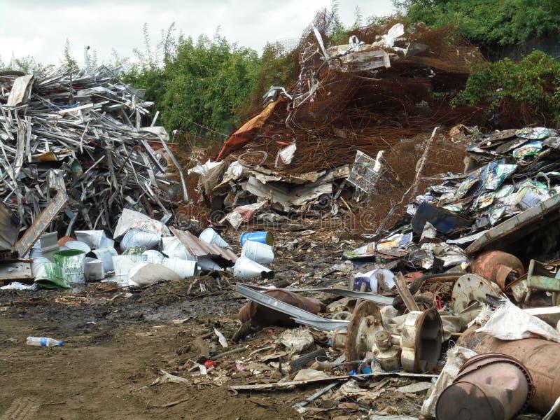 Bangkok-Thailand: Wiederverarbeitbarer Abfall Berge stockfoto