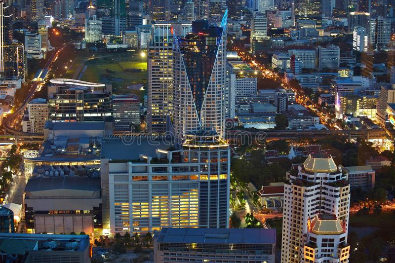 Download Bangkok from top night stock image. Image of building - 26008959