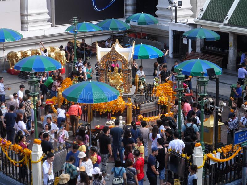 Bangkok traces its roots to a small trading post during the Ayutthaya Kingdom in the 15th century, which eventually grew and becam. E the site of two capital royalty free stock photography