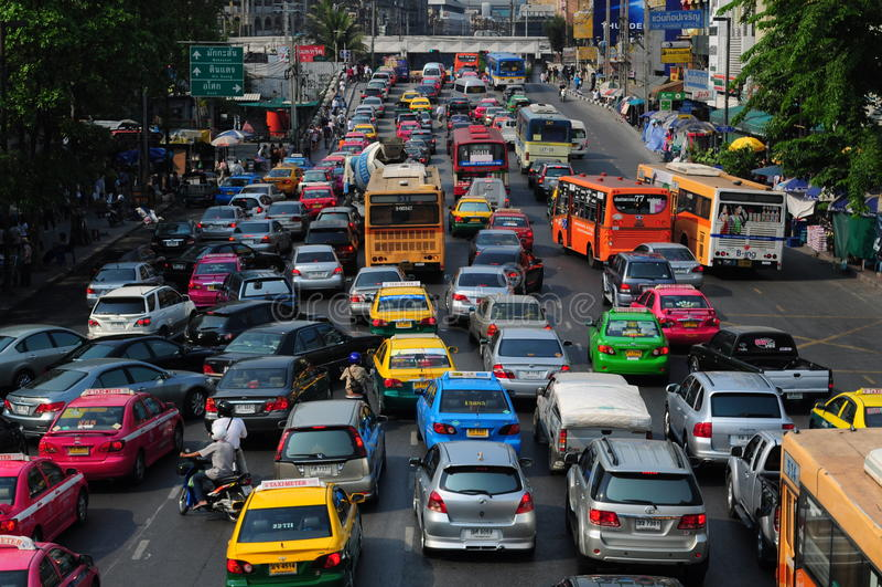 Bangkok traffic royalty free stock photos