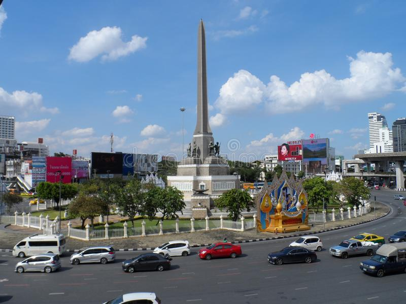 Bangkok tropi swój korzenie mała handlarska poczta podczas Ayutthaya królestwa w 15 wiek który ostatecznie rósł i becam, fotografia royalty free