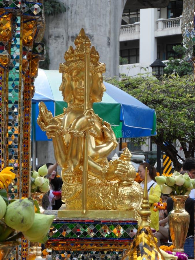 Bangkok tropi swój korzenie mała handlarska poczta podczas Ayutthaya królestwa w 15 wiek który ostatecznie rósł i becam, obraz stock
